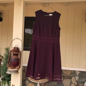 NWT Calvin Klein Burgundy Dress Sz 14